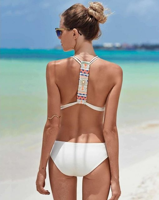 Monokini color blanco con push up